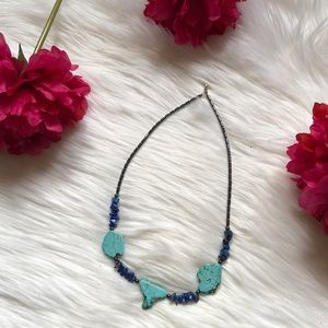 Jewelry - Hematite, Lapis, and Turquoise Necklace